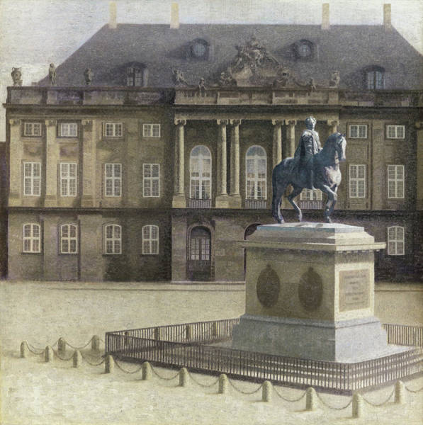 Renaissance Painters Wall Art - Painting - Amalienborg Plads - Digital Remastered Edition by Vilhelm Hammershoi