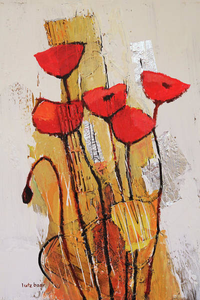 Wall Art - Painting - Amapola by Lutz Baar