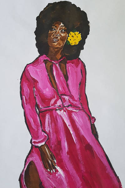 Painting - Amara Lanegra by Rachel Natalie Rawlins