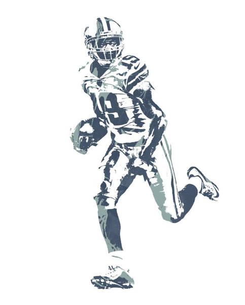 Wall Art - Mixed Media - Amari Cooper Dallas Cowboys Pixel Art 1 by Joe Hamilton