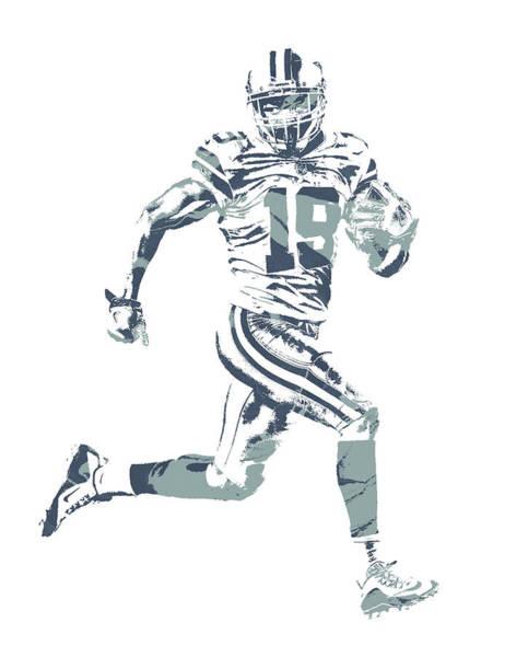 Wall Art - Mixed Media - Amari Cooper Dallas Cowboys Pixel Art 2 by Joe Hamilton