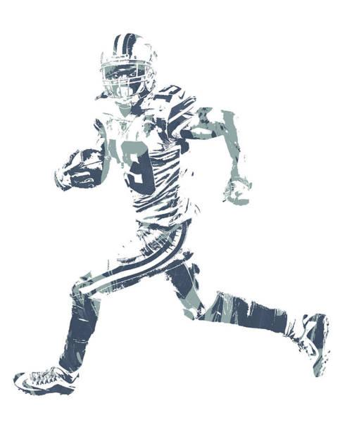 Wall Art - Mixed Media - Amari Cooper Dallas Cowboys Pixel Art 3 by Joe Hamilton