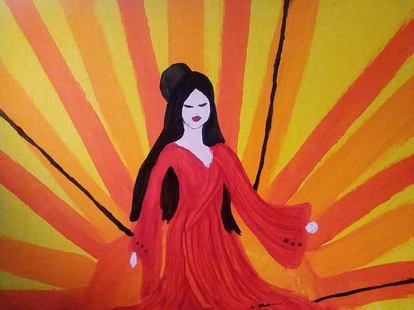 Wall Art - Painting - Amaterasu  by Vale Anoa'i