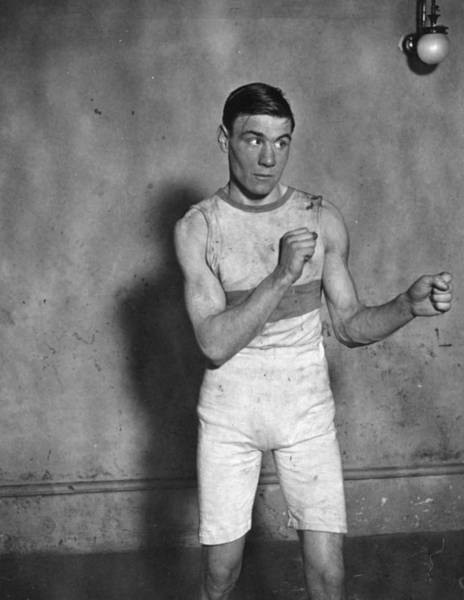 1923 Photograph - Amateur Boxer by Topical Press Agency