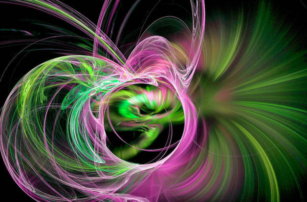Digital Art - Amaze Yourself Pink by Don Northup