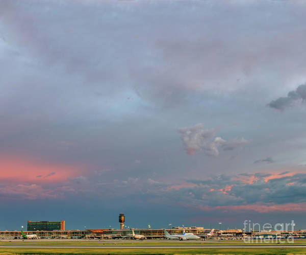 Wall Art - Photograph - Amazing Evening Sky Over The Airport by Viktor Birkus