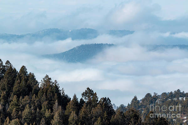 Photograph -  Amazing Fog Bank In The Colorado Rockies by Steve Krull