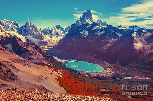 Wall Art - Photograph - Amazing Landscape With Fitz Roy And by Serjio74