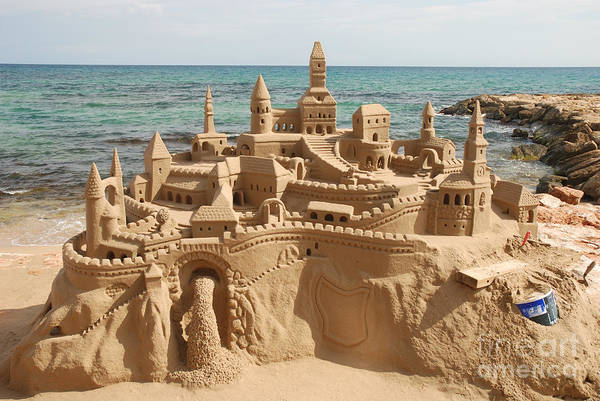 Wall Art - Photograph - Amazing Sandcastle On A Mediterranean by Philip Lange