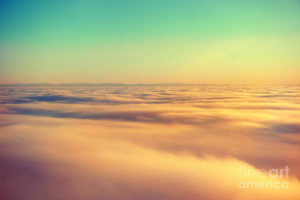 Atmosphere Wall Art - Photograph - Amazing View From Plane On The Orange by Beautiful Landscape