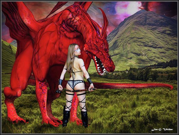 Photograph - Amazon And The Dragon by Jon Volden