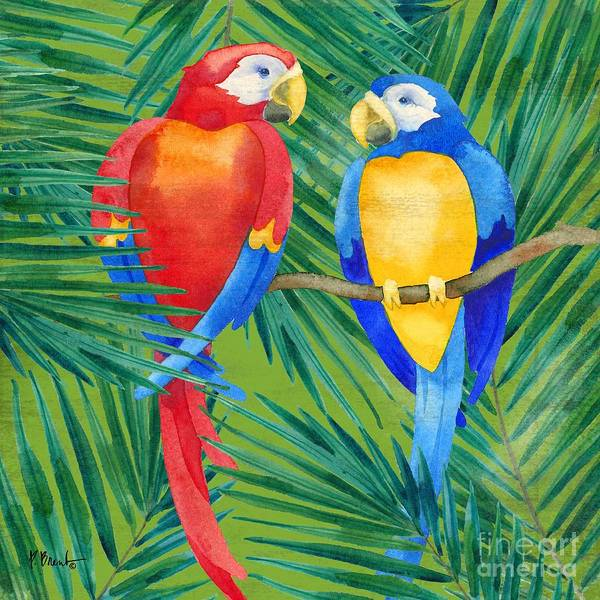 Wall Art - Painting - Amazon Birds I by Paul Brent