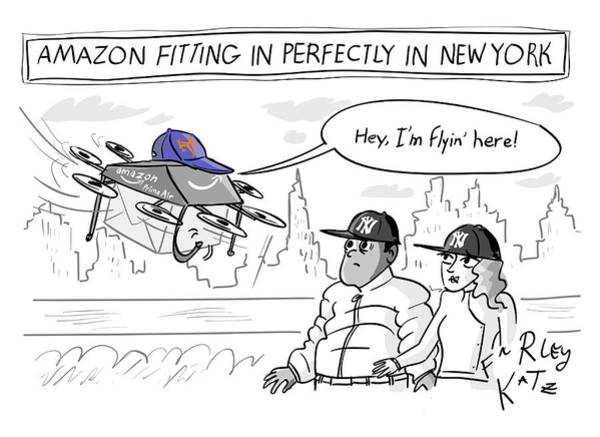 Drawing - Amazon Fitting In Perfectly by Farley Katz