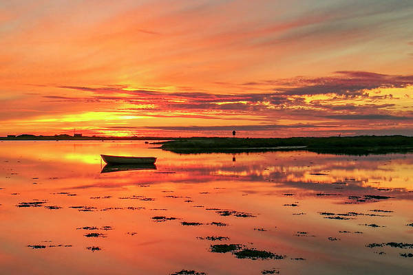 Photograph - Amber Sunset by Kim Lessel