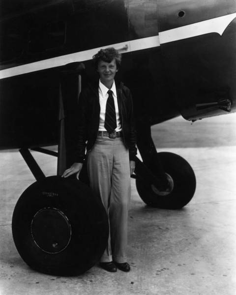 Necktie Wall Art - Photograph - Amelia Earhart by American Stock Archive
