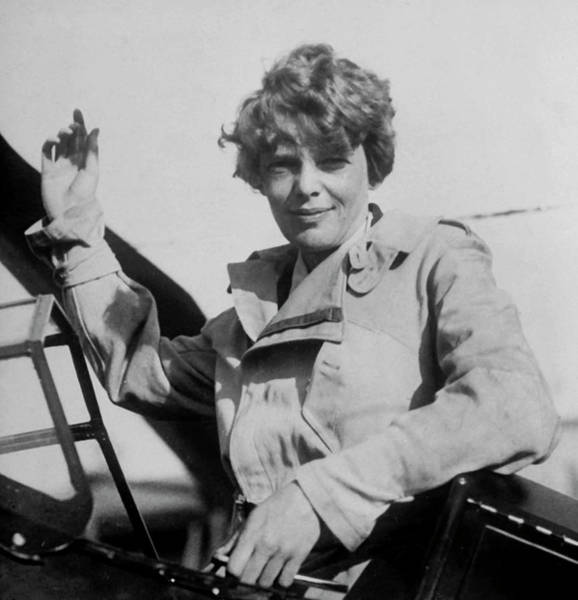 Heroine Photograph - Amelia Earhart by Time Life Pictures