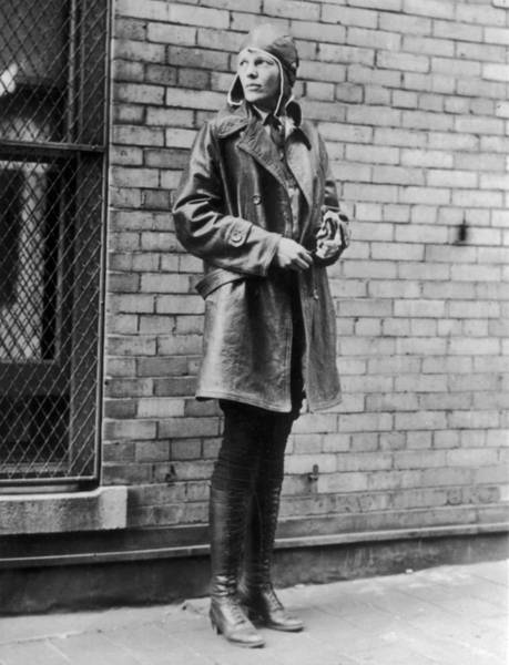 Heroine Photograph - Amelia Earhart by Topical Press Agency