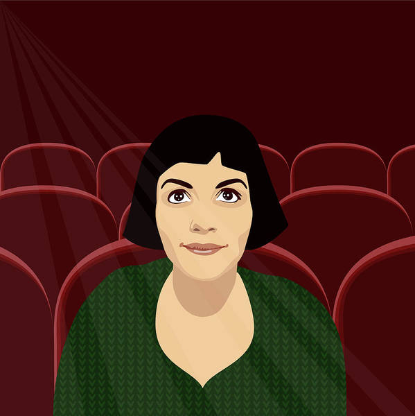 Transfix Wall Art - Digital Art - Amelie At The Flix by Claire Huntley