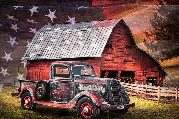 Photograph - America America God Shed His Grace On Thee In Soft Colors by Debra and Dave Vanderlaan