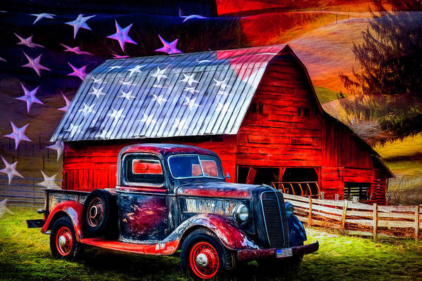 Photograph - America America God Shed His Grace On Thee Painting by Debra and Dave Vanderlaan
