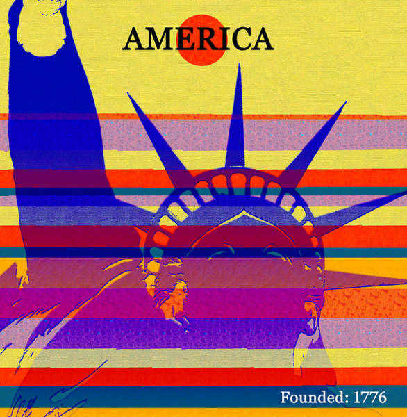 Wall Art - Mixed Media - America Founded 1776 by David Lee Thompson
