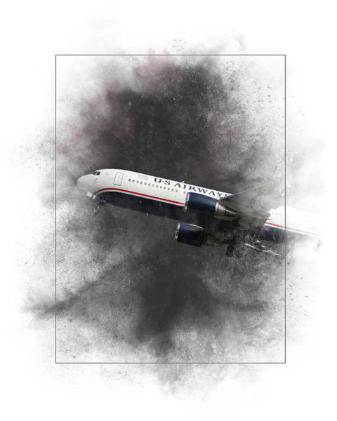 Wall Art - Mixed Media - American Airlines Boeing 767-200 Painting by Smart Aviation