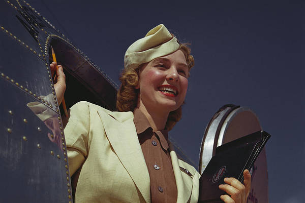 Photograph - American Airlines Stewardess by Michael Ochs Archives