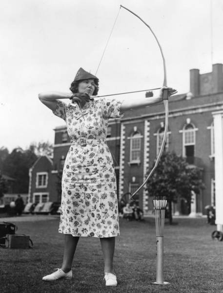 Archery Photograph - American Archer by John F Stephenson