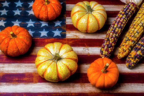 Gay Flag Photograph - American Autumn Harvest by Garry Gay
