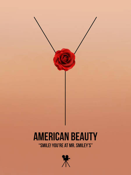 Wall Art - Digital Art - American Beauty by Naxart Studio