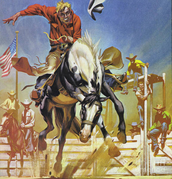 Wall Art - Painting - American Bronco Rider  by Angus McBride