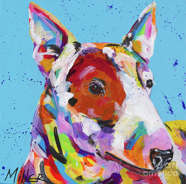 Wall Art - Painting - American Bull Terrier by Tracy Miller