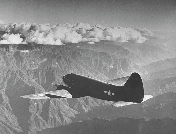 Photograph - American C-46 Transport Flying The Hump by William Vandivert