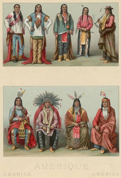 Indigenous Digital Art - American Chiefs by Hulton Archive