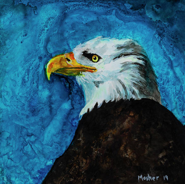 Painting - American Eagle Portrait Painting by Rick Mosher