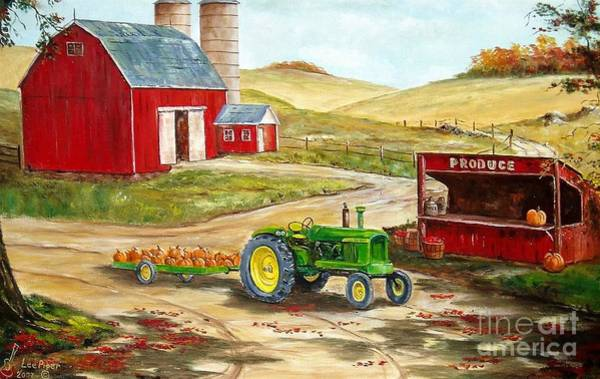 Wall Art - Painting - American Farm Life by Lee Piper