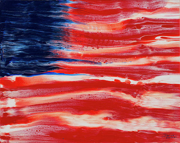Painting - American Flag Abstraction by Darice Machel McGuire