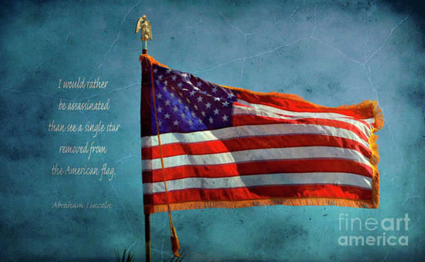 Wall Art - Photograph - American Flag And Abraham Lincoln by Debby Pueschel
