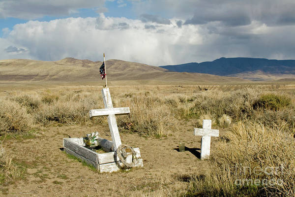 Photograph - American Flag Grave by Suzanne Lorenz