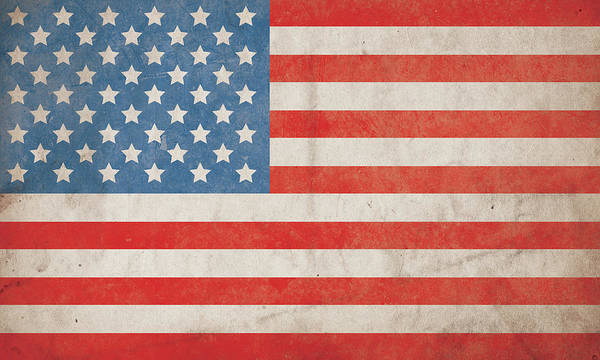 Celebration Photograph - American Flag Grunge Background - Hi Res by Nic Taylor