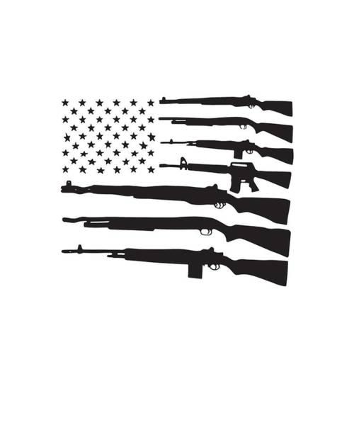 War Bonds Digital Art - American Flag Guns Patriotic Usa Pride Gun Rights Nra Pro-veteran by Aaron Gilfillan
