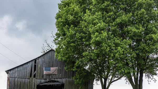 Photograph - American Flag On Barn   by John McGraw