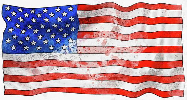 Wall Art - Digital Art - American Flag Stars And Stripes by Matthias Hauser