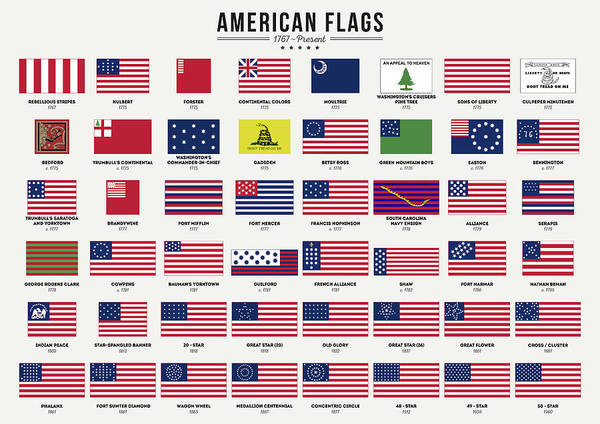 Wall Art - Digital Art - American Flags by Zapista Zapista