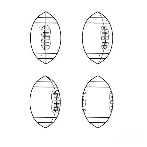 Wall Art - Digital Art - American Football Ball Spinning Sequence Drawing by Aloysius Patrimonio