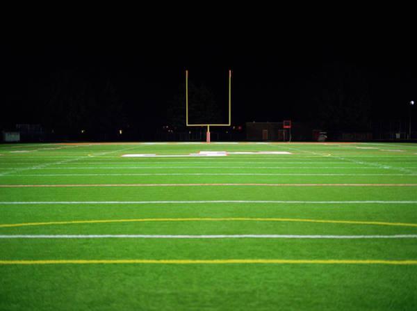 Team Sport Photograph - American Football Field At Night by Darrin Klimek