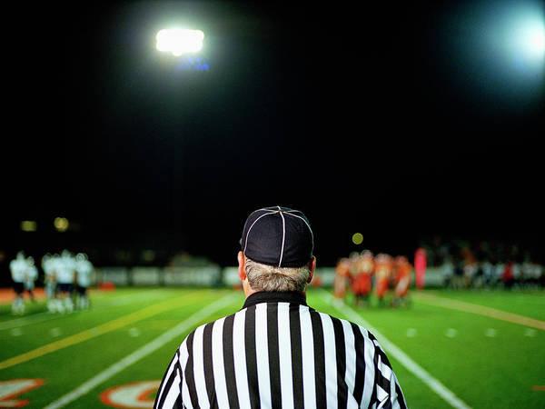 Wall Art - Photograph - American Football Referee On Field by Darrin Klimek