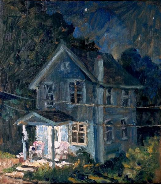 Painting - American Front Porch Nocturne by Thor Wickstrom
