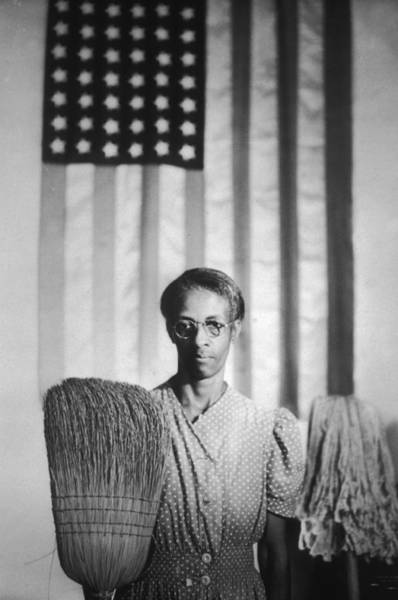 Usa Flag Photograph - American Gothic by Gordon Parks