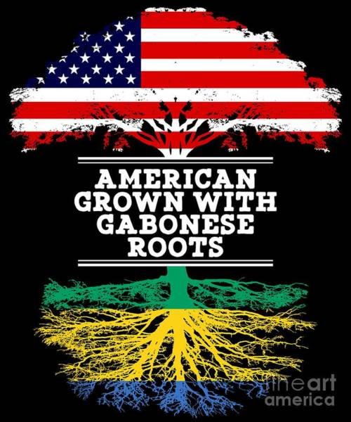 Gabonese Digital Art - American Grown With Gabonese Roots by Jose O